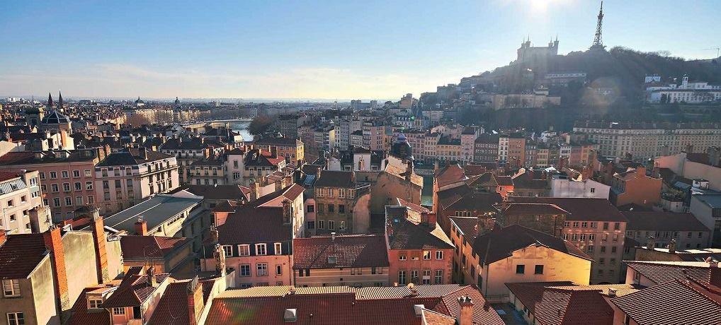 Vue sur Lyon depuis Croix Rousse
