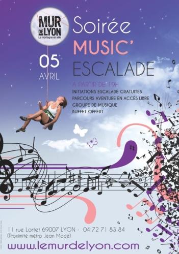Soirée Music'Escalade Mur de Lyon