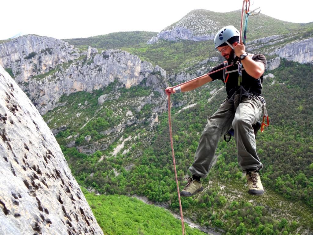 voie escalade rivière d'argent escalès rappel canyon verdon stage escalade grandes voies eric chaxel