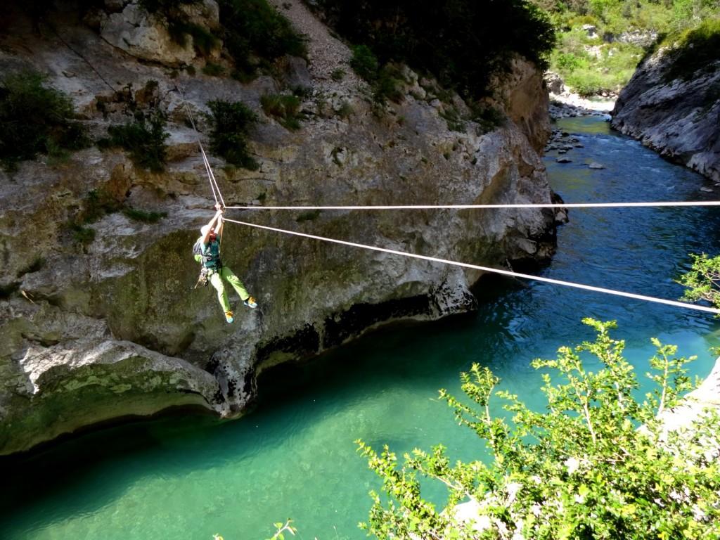 tyrolienne canyon verdon stage escalade grandes voies eric chaxel