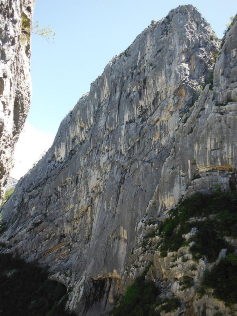 Paroi du Duc gorges du Verdon (c) Escalade Lyon