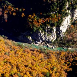 escalade verdon automne gorges