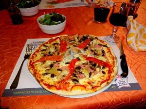 La pizza de l'auberge de Calendal