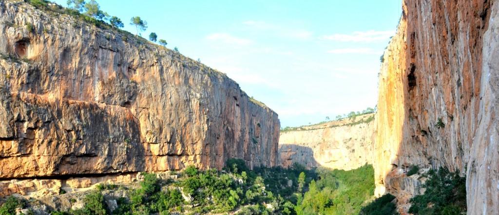 Le canyon du rio Turia depuis Chulilla