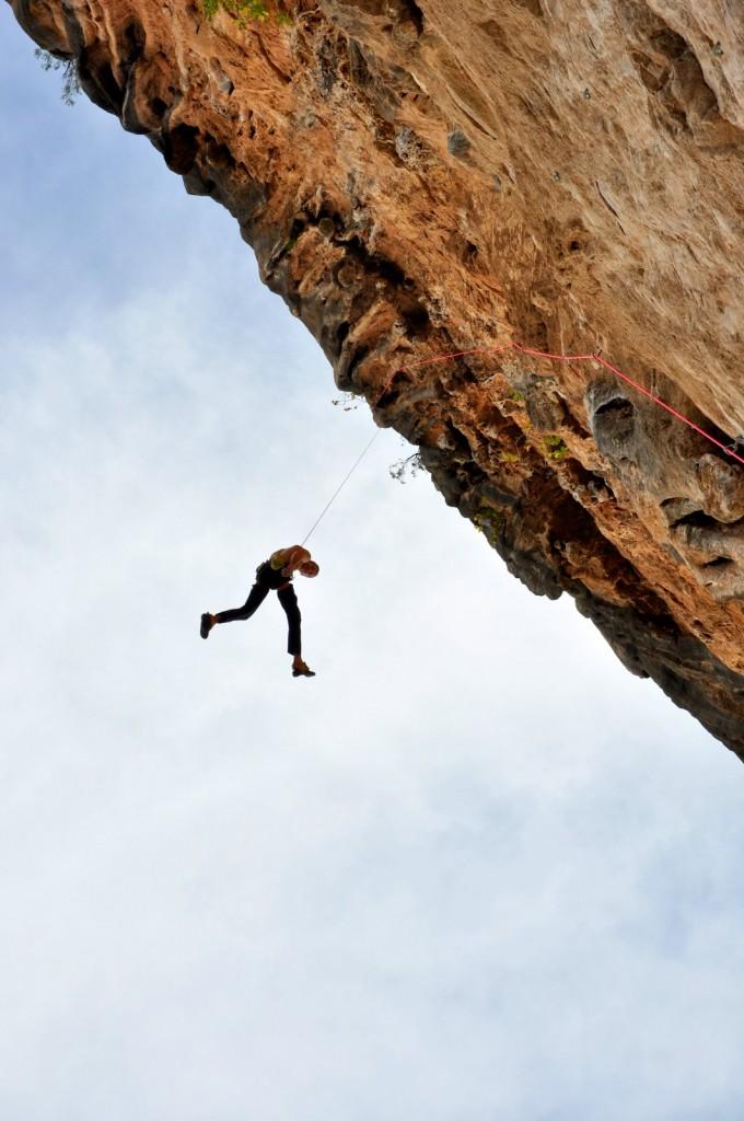 Pierre envoie Sendero Luminoso en une longueur de 55 m