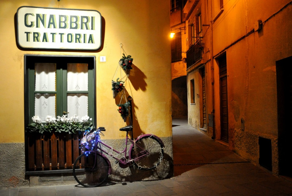 Trattoria dans la veille ville de Finale Ligure