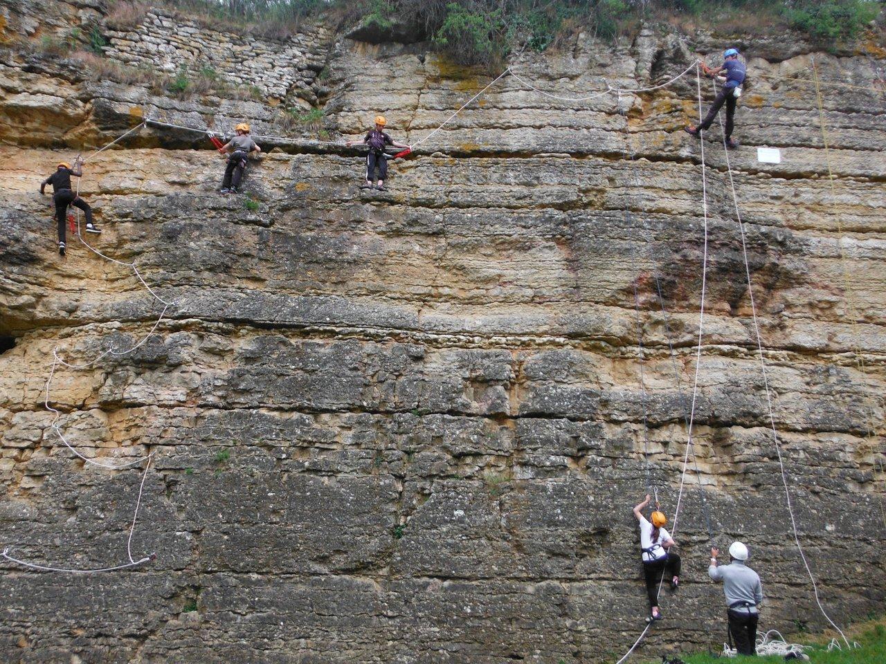 Via cordata à l'école d'escalade de Limas près de Lyon