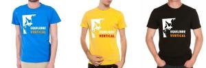 Tee-shirts de grimpe et d'escalade Equilibre vertical