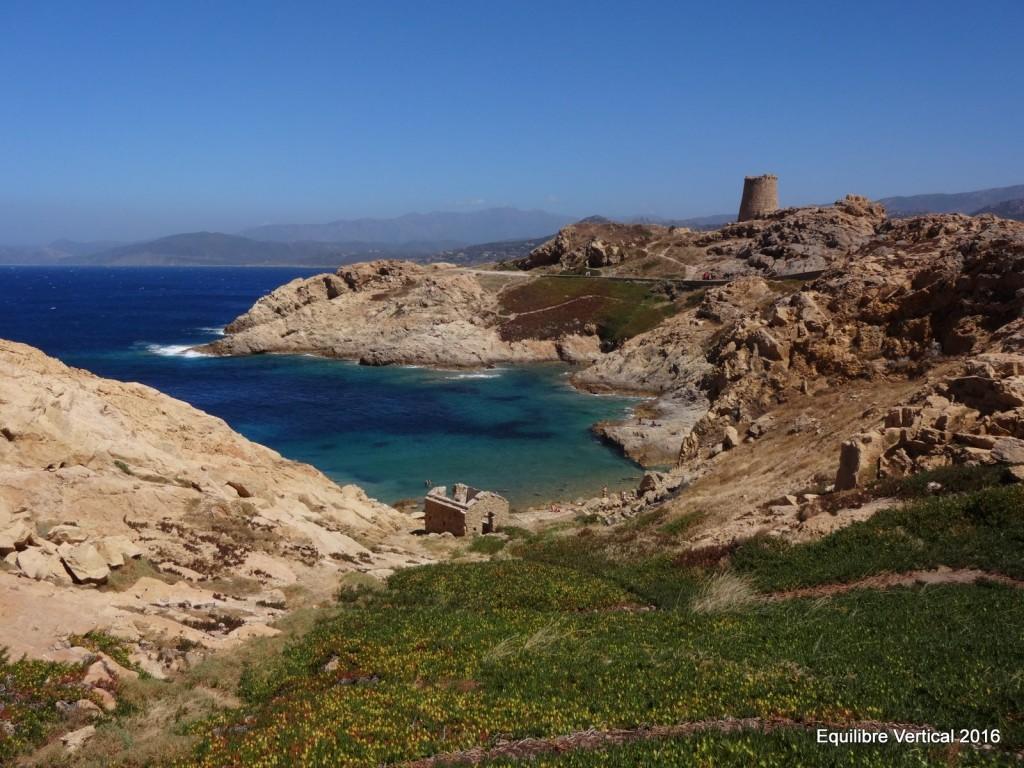 La vue du site des îles à l'Ile Rousse