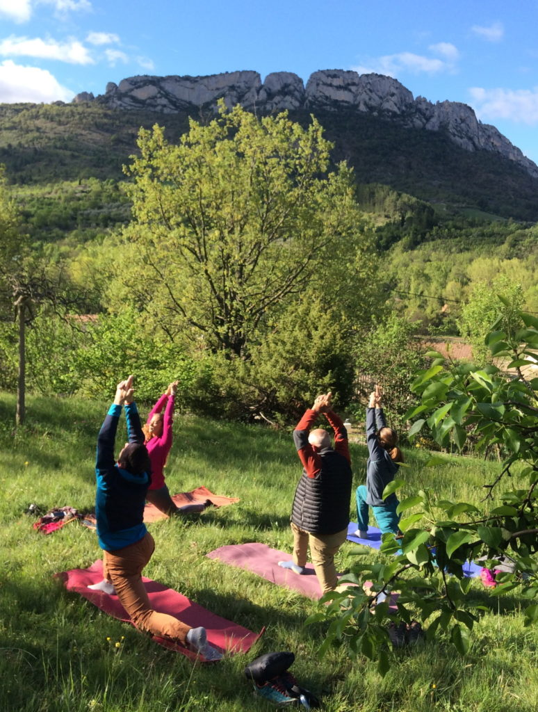 stage escalade yoga drôme buis les baronnies