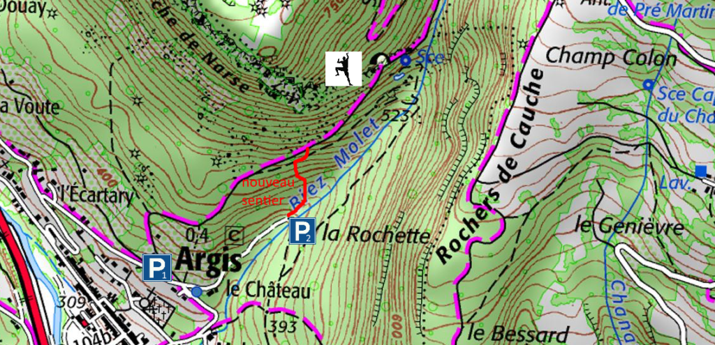 accès-ign-roche-narse-parking-carte