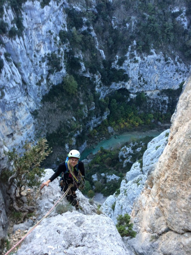 escalade grandes voies verdon