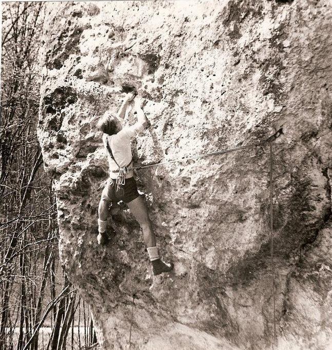 escalade au Saussois 1960 - FFCAM