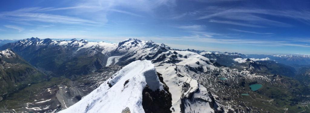 panoramique sommet cervin matterhorn