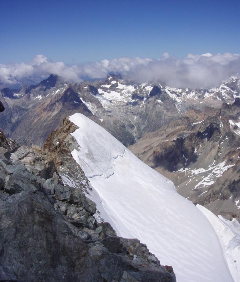 dôme neiges écrins en juillet 2005