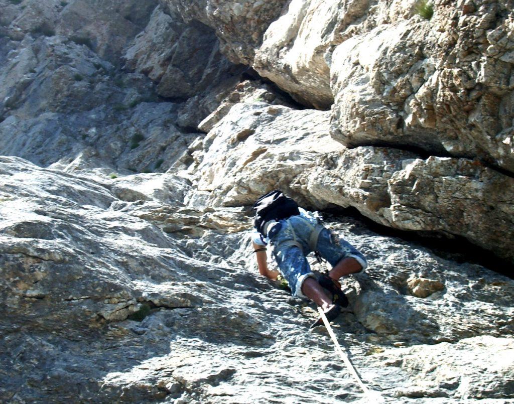 escalade-vercors-grimpeur-2-soeurs-voie-toit