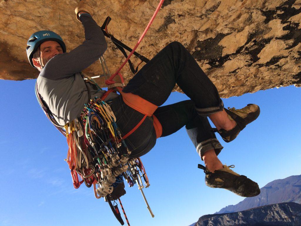 Haâfnïouf Eric Chaxel escalade artificielle toit surplomb