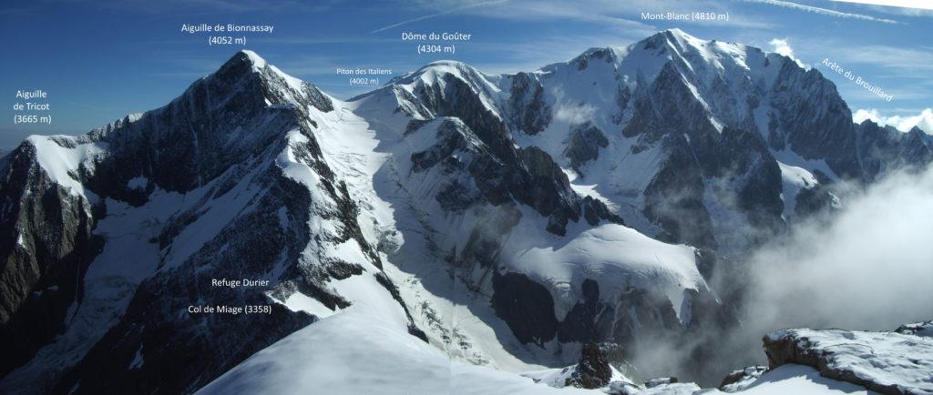 bionnassay mont-blanc brouillard gouter tricot alpinisme montagne