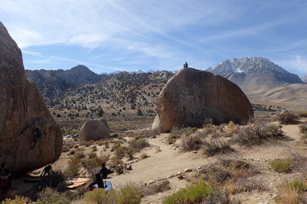 bishop highball montagne bouldering bloc californie
