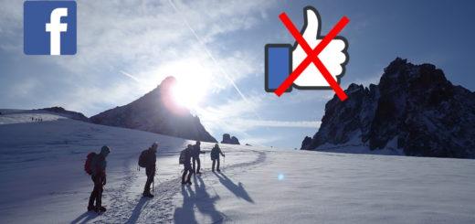 facebook montagne escalade partage réseau social