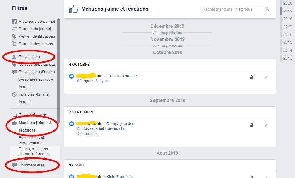 facebook mentions j'aime tutoriel nettoyer