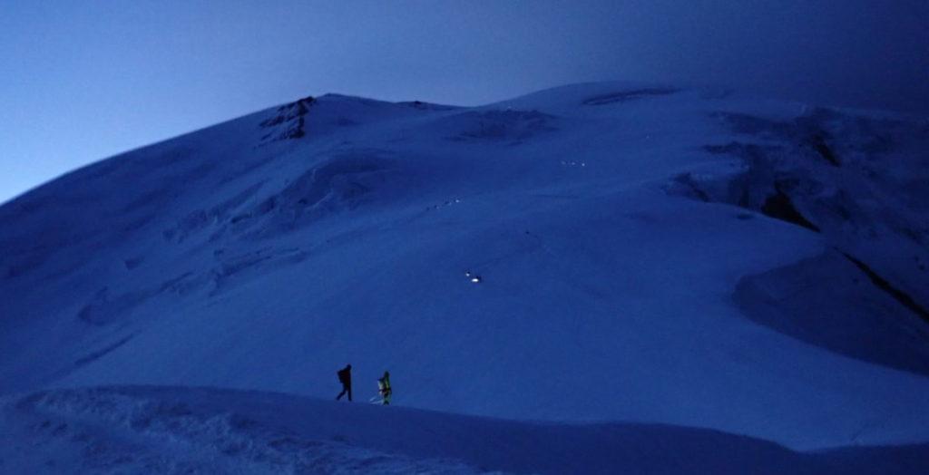 gouter nuit mont-blanc frontale montagne
