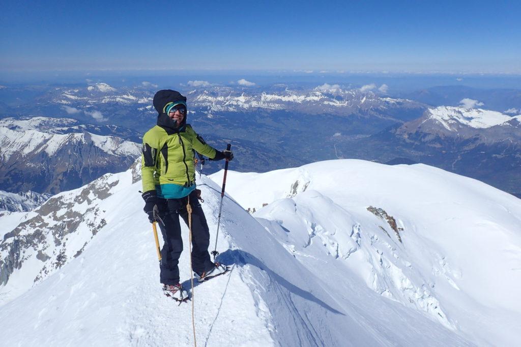 sommet mont-blanc alpes guide montagne ski alpinisme
