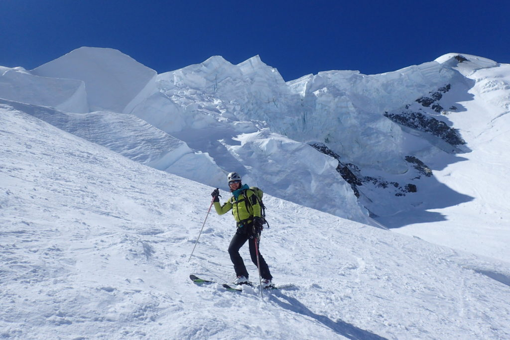 ski randonnée mont blanc sérac descente grands mulets