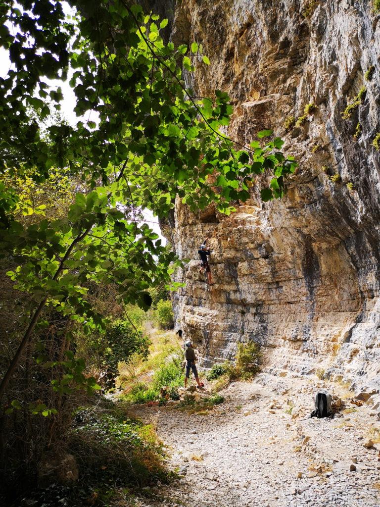 escalade falaise grimpeur nature