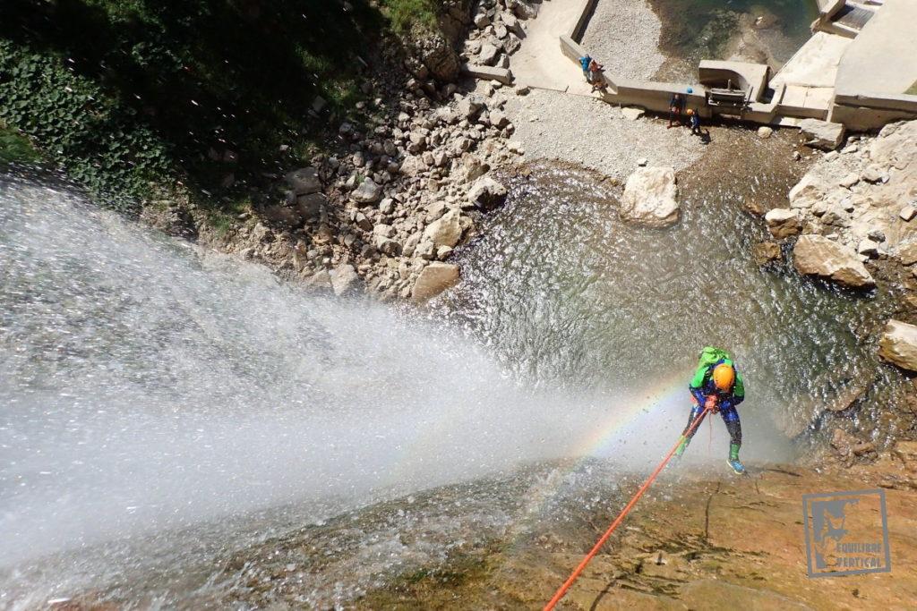 canyon-écouges-vercors-rappel-cascade