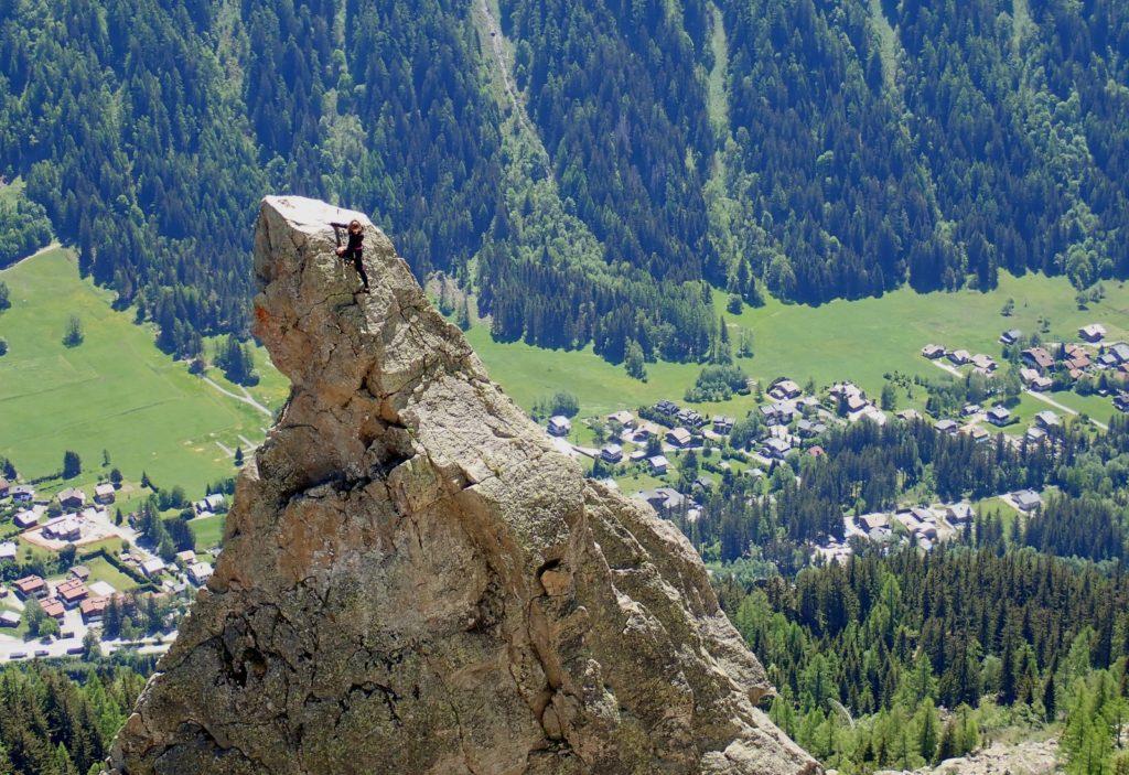 escalade chamonix chéserys mont-blanc aiguillette d'argentière