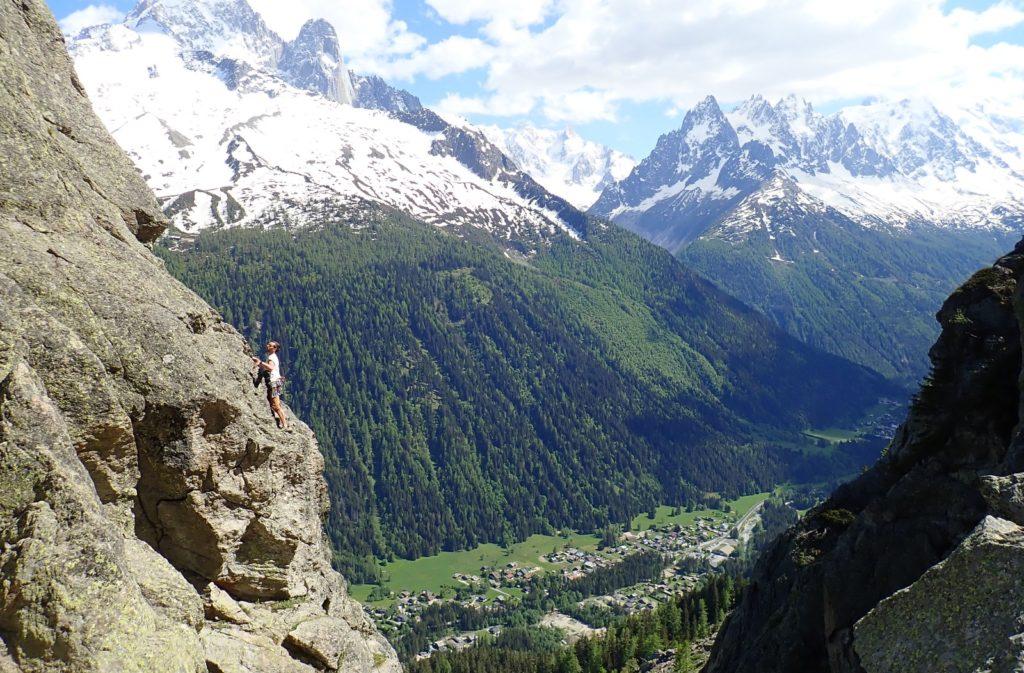 escalade montagne chamonix aiguillette argentière chéserys