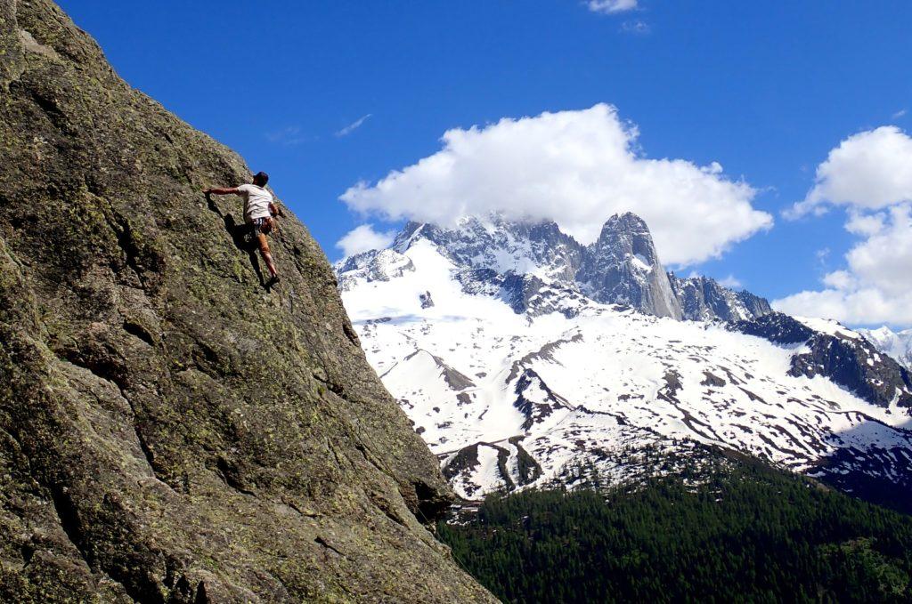 escalade chamonix montagne aiguillette argentière aiguille verte drus