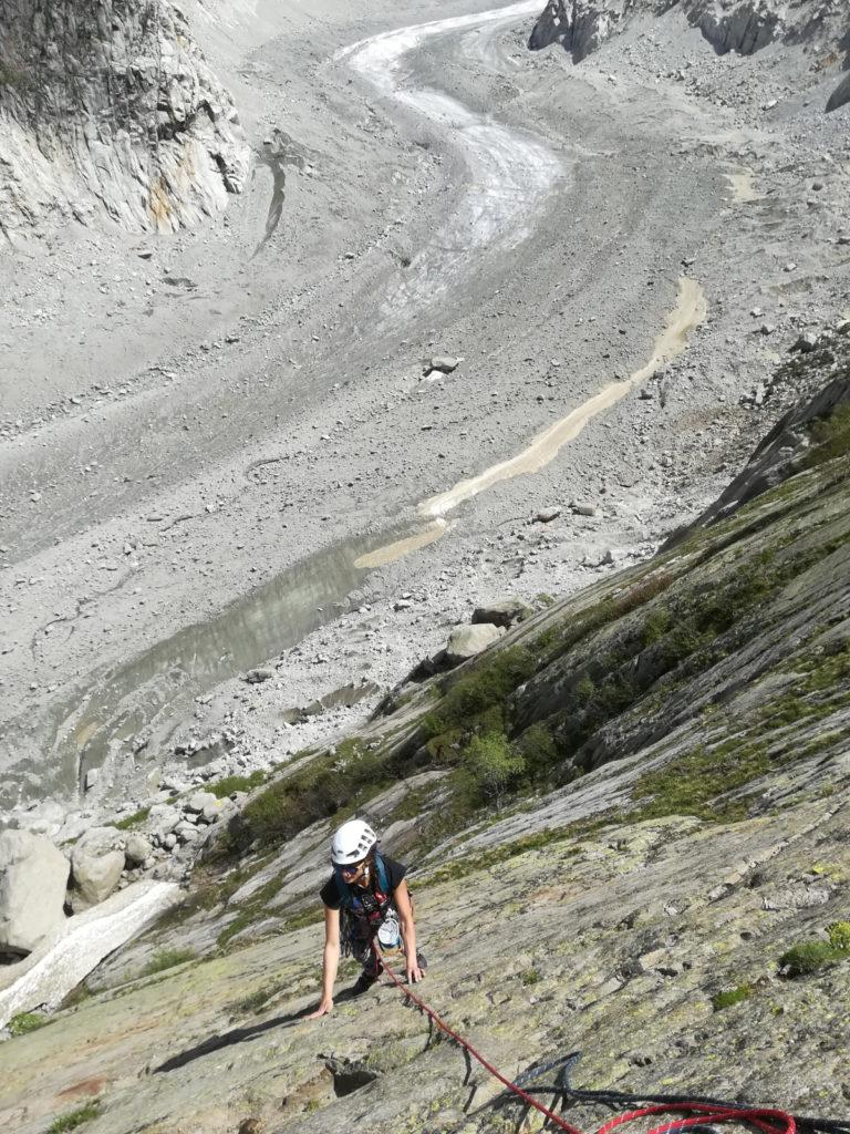 escalade mer de glace chamonix glacier montagne alpes