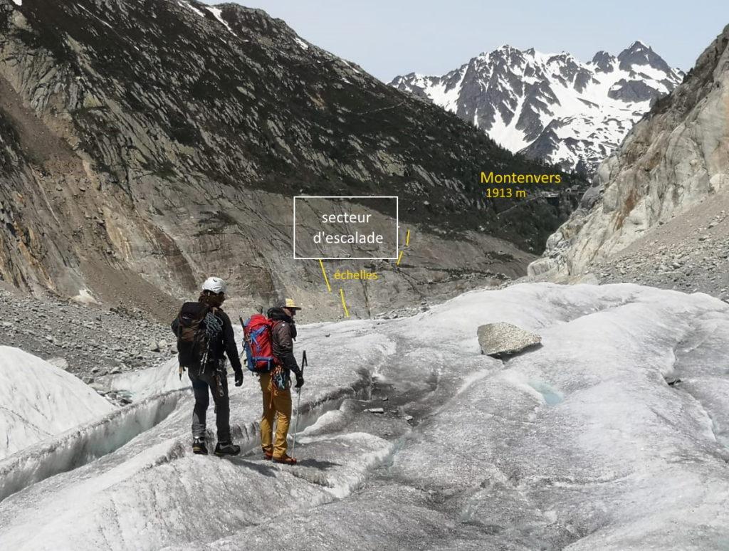 randonnée glacier chamonix mer de glace escalade