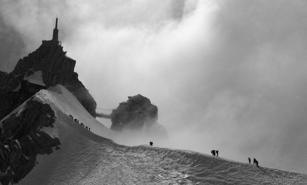 arrête aiguille du midi chamonix alpinisme glacier
