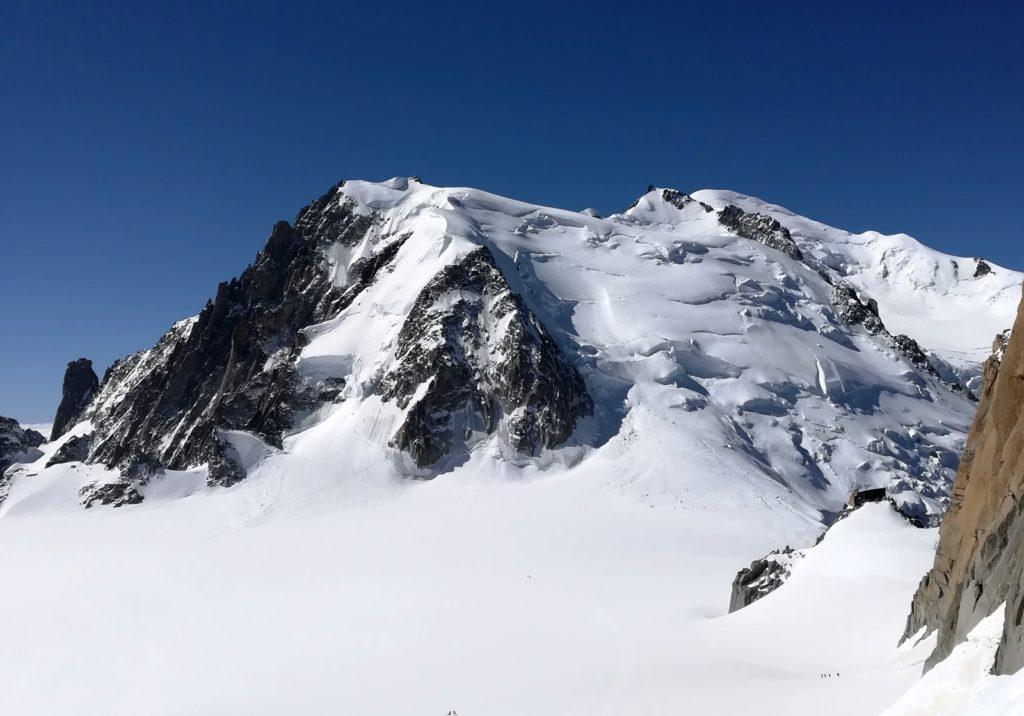 mont-blanc tacul chamonix alpinisme ski glacier vallée blanche