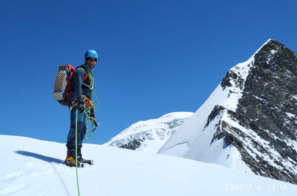 eric chaxel sommet aiguille bionnassay mont-blanc millet guide haute montagne