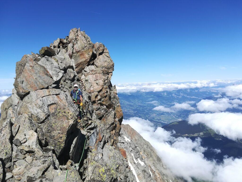 arête tricot rocher alpinisme guide haute montagne