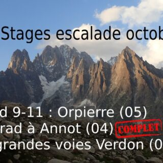 stages escalade octobre 2020 verdon orpierre annot trad eric chaxel guide haute montagne