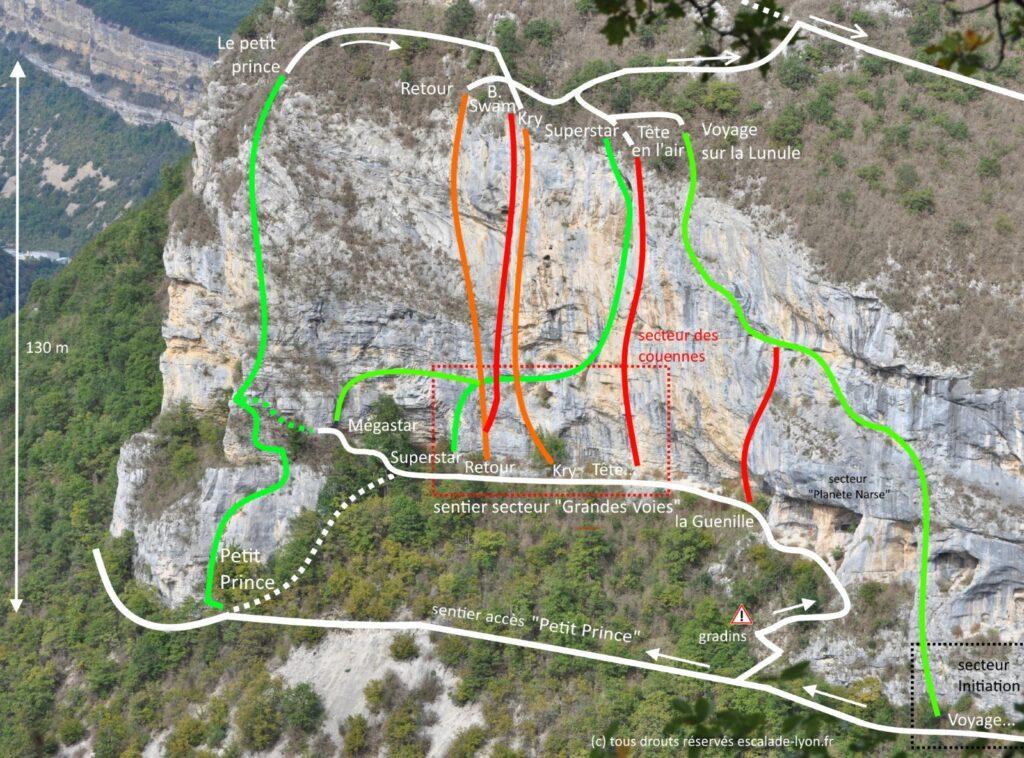 topo greandes voies roche de narse argis
