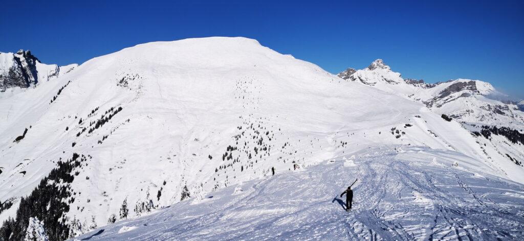 croisse baulet et le col de l'avenaz à ski de randonnée